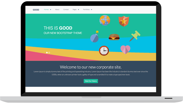 GoodWP - Bootstrap WordPress theme